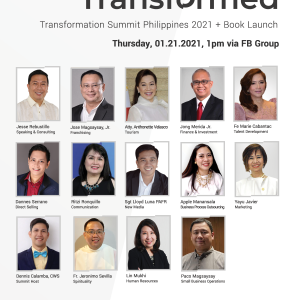 Transformation Summit Speakers Philippines 2021