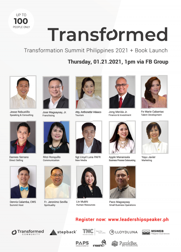 Transformation Summit Speakers Philippines 2021