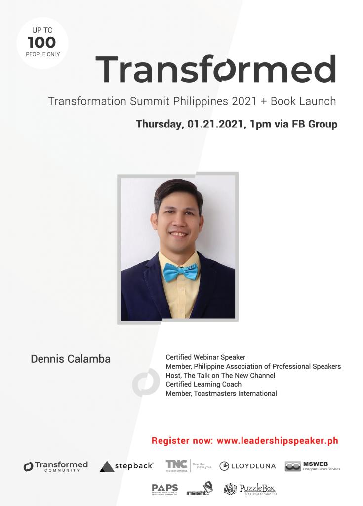 Transformed Summit Speaker Dennis Calamba