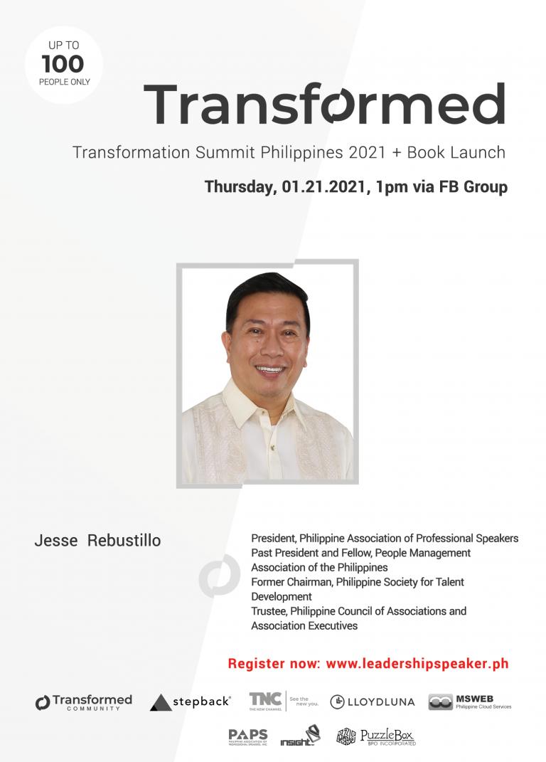 Transformed Summit Speaker Jesse Rebustillo