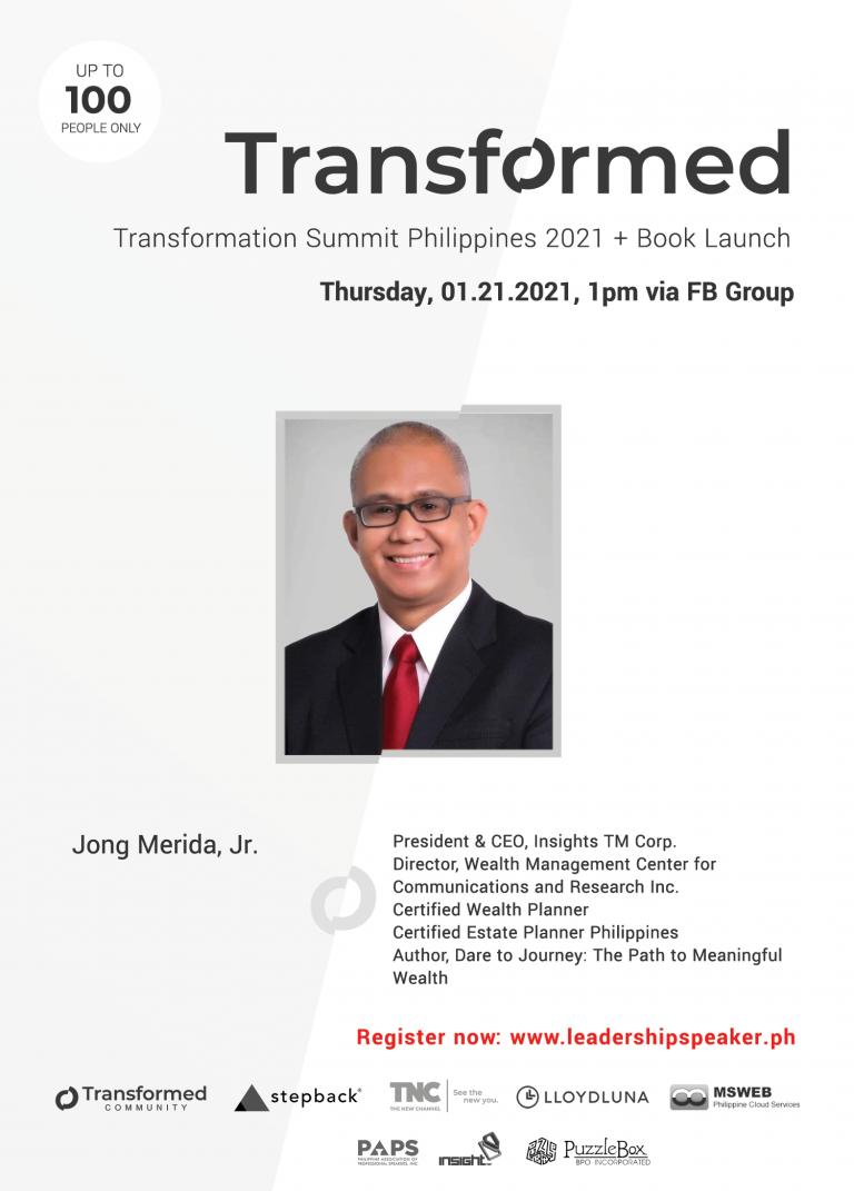 Transformed Summit Speaker Jong Merida Jr