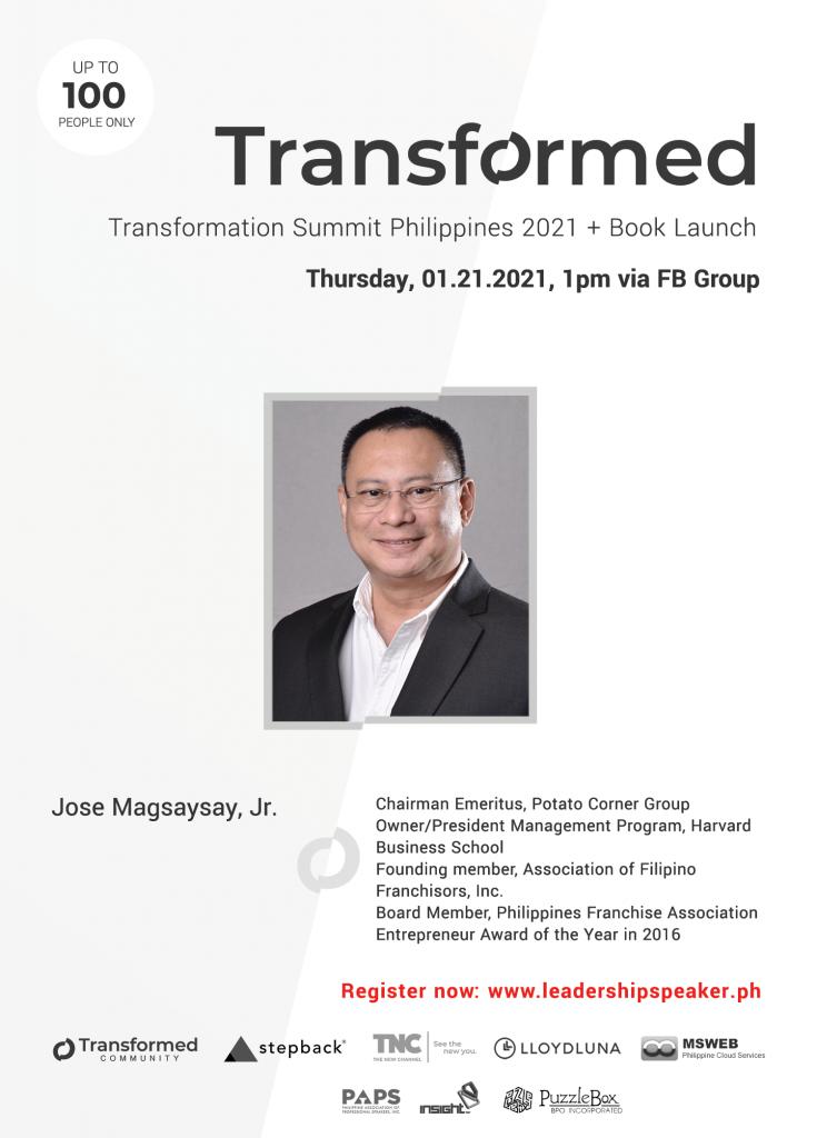 Transformed Summit Speaker Jose Magsaysay Jr