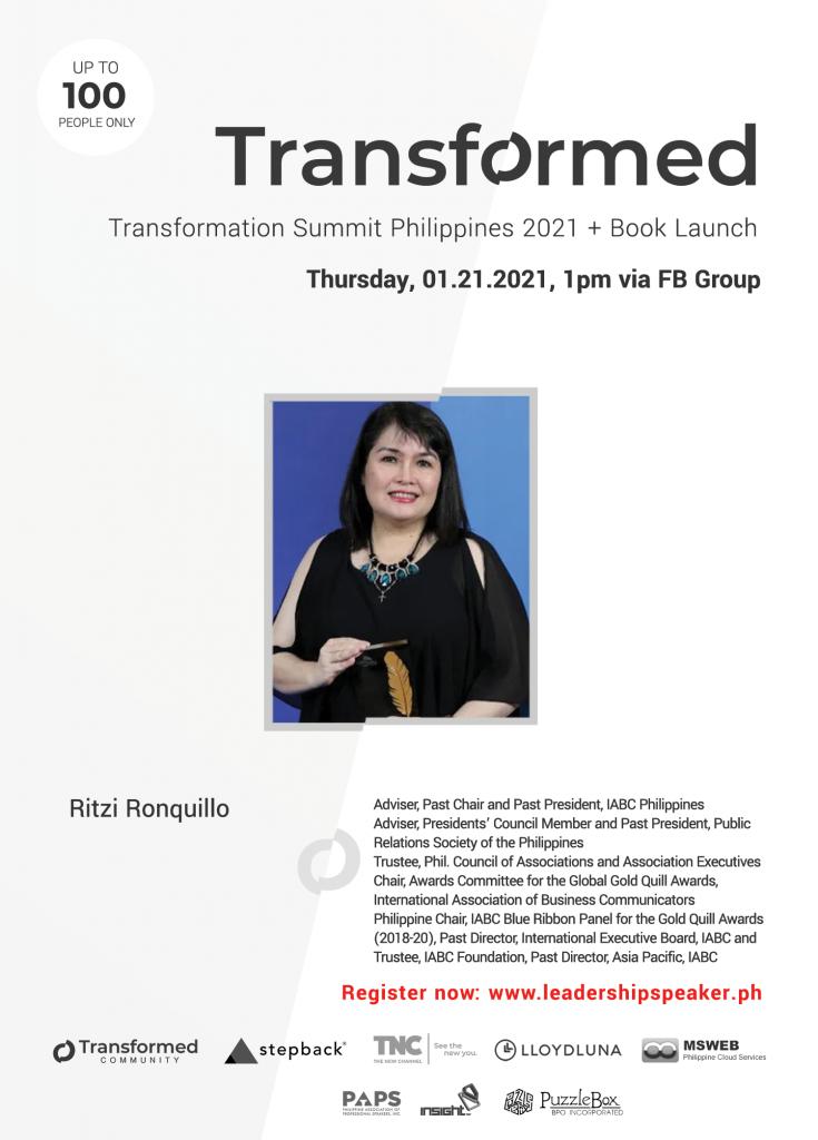 Transformed Summit Speaker Ritzi Ronquillo