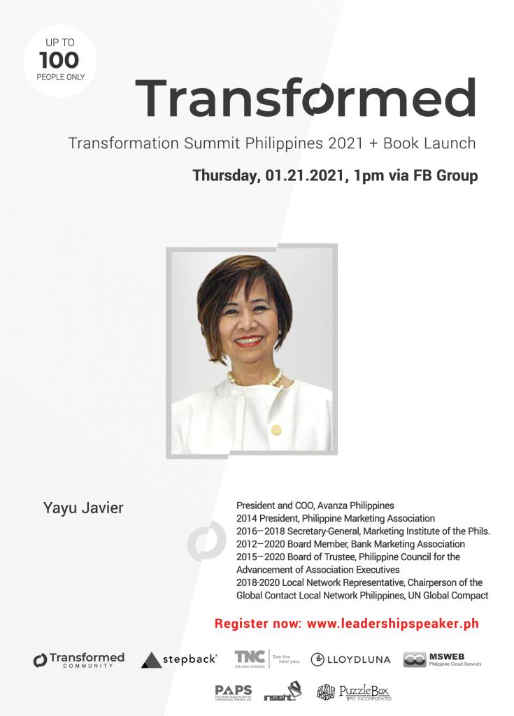Transformed Summit Speaker Yayu Javier